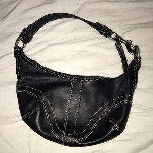 Coach Mini Leather Satchel Black Leather